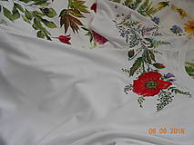 Tričká - Makové s lúčnymi kvietkami a trávami... - 9873170_