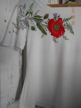 Tričká - Makové s lúčnymi kvietkami a trávami... - 9873183_