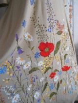 """Šaty - """"Maky a lúčne kvetinkovo"""" - šaty z bambusu, ručne maľované - 9873328_"""