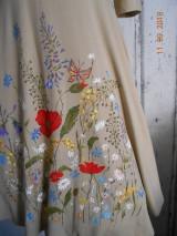 """Šaty - """"Maky a lúčne kvetinkovo"""" - šaty z bambusu, ručne maľované - 9873330_"""