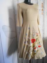 """Šaty - """"Maky a lúčne kvetinkovo"""" - šaty z bambusu, ručne maľované - 9873333_"""