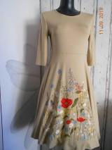 """Šaty - """"Maky a lúčne kvetinkovo"""" - šaty z bambusu, ručne maľované - 9873391_"""