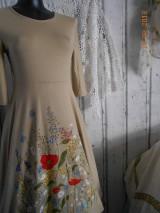 """Šaty - """"Maky a lúčne kvetinkovo"""" - šaty z bambusu, ručne maľované - 9873399_"""