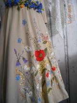 """Šaty - """"Maky a lúčne kvetinkovo"""" - šaty z bambusu, ručne maľované - 9873404_"""