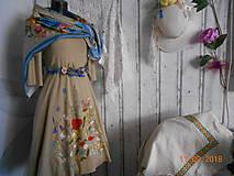 """Šaty - """"Maky a lúčne kvetinkovo"""" - šaty z bambusu, ručne maľované - 9873408_"""