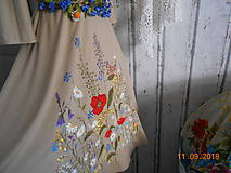 """Šaty - """"Maky a lúčne kvetinkovo"""" - šaty z bambusu, ručne maľované - 9873415_"""