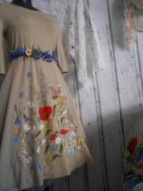 """Šaty - """"Maky a lúčne kvetinkovo"""" - šaty z bambusu, ručne maľované - 9873421_"""