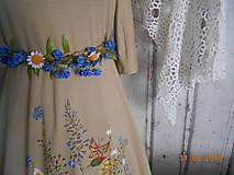 """Šaty - """"Maky a lúčne kvetinkovo"""" - šaty z bambusu, ručne maľované - 9873425_"""