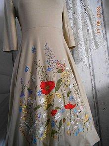 """Šaty - """"Maky a lúčne kvetinkovo"""" - šaty z bambusu, ručne maľované - 9873402_"""