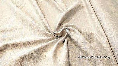 Textil - Látka pretkávaná lurexovou niťou - Vianočný mix v páse strieborný - cena za 10 cm - 9872558_
