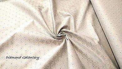 Textil - Látka pretkávaná lurexovou niťou - Vločky strieborné - cena za 10 cm - 9872618_