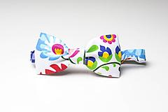 Doplnky - Motýlik farebný folk - 9872793_