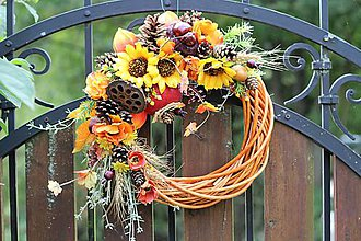 Dekorácie - Jesenný veniec - 9872198_