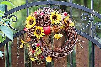 Dekorácie - Jesenný veniec - 9872790_