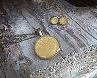 Sady šperkov - Bronzová okrúhla sada šperkov - 9871394_