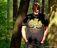 Topy, tričká, tielka - Pánske tričko, maľované STROM ♂ - 9873314_