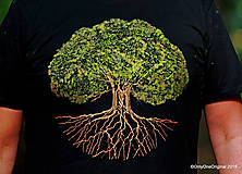 Tričká - Pánske tričko, maľované STROM ♂ - 9873334_