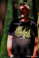 Tričká - Pánske tričko, maľované STROM ♂ - 9873335_