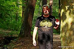 Tričká - Pánske tričko, maľované STROM ♂ - 9873381_
