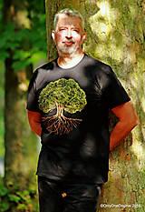 Tričká - Pánske tričko, maľované STROM ♂ - 9873383_