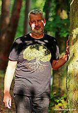 Tričká - Pánske tričko, maľované STROM ♂ - 9873405_
