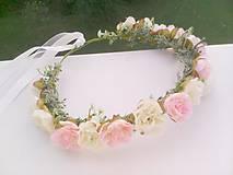 """Ozdoby do vlasov - Kvetinový venček do vlasov """"... jemná krása ..."""" - 9872950_"""