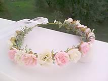 """Ozdoby do vlasov - Kvetinový venček do vlasov """"... jemná krása ..."""" - 9872952_"""