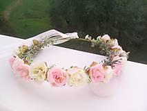 """Ozdoby do vlasov - Kvetinový venček do vlasov """"... jemná krása ..."""" - 9872953_"""