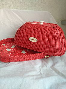 Nádoby - Cerveny chlebnik - 9871213_