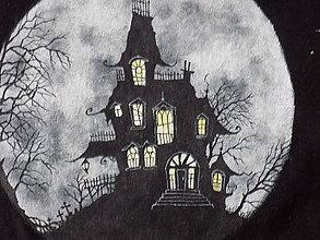 Tričká - Unisex tričko - Haunted House - 9871864_