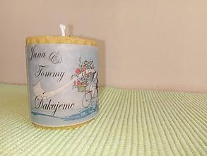 Darčeky pre svadobčanov - Sviečky na cyklosvadbu - na objednávku - 9872802_