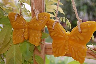Dekorácie - Závesné voskové dekorácie. (Väčší motýlik) - 9872861_
