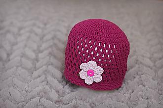 Detské čiapky - háčkovaná čiapočka - 9873488_