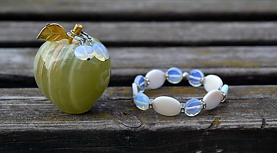 Sady šperkov - Sada z perlete náramok a náušnice - 9871391_