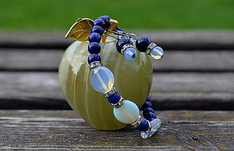 Sady šperkov - Lapis Lazuli a opalit sada - 9871494_