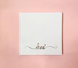 Papiernictvo - Svadobná kniha Love  -strieborný nadpis - 9873195_