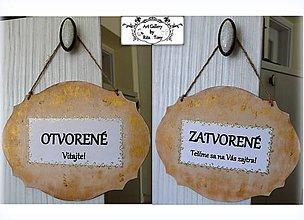 """Tabuľky - Tabulka na dvere """"Otvorené-Zatvorené"""" :) - 9872653_"""