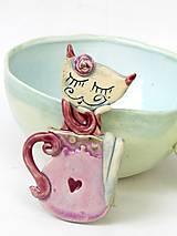 Tabuľky - Tabuľa na dvere označenie na toaletu mačka - 9871675_