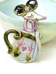 Tabuľky - Tabuľa na dvere označenie na toaletu  myš  - 9871635_