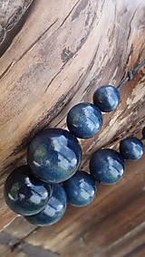 Náhrdelníky - Granátovomodré molekuly - 9871705_