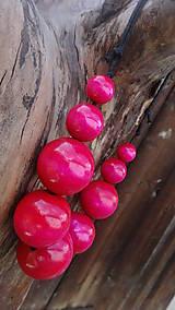 Náhrdelníky - Ružové molekuly - 9872455_