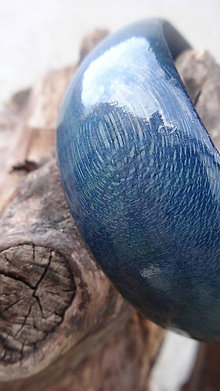 Náramky - Granátovomodrý náramok - 9871712_
