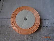 Galantéria - Marhuľková saténová stuha 10 mm - 9871921_