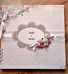 Papiernictvo - svadobný album 25x25 cm - 9872513_