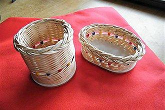Košíky - Košíky z pedigu  - sada - 2 kusy - 9873361_