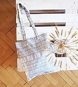 Nákupné tašky - Ekotaška Čičmany- sivá - 9874566_