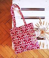 Nákupné tašky - Ekotaška folk v červenej - 9875629_