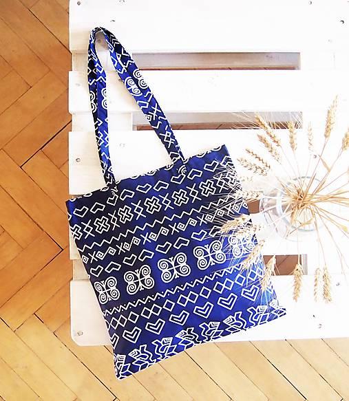 a42902062 Ekotaška Čičmany- modrá / DARTASKA - SAShE.sk - Handmade Nákupné tašky