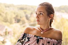 Náhrdelníky - ruženínový náhrdelník  - 9874969_