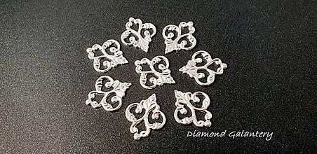 Komponenty - Filigrán - 15x13 - Striebro - 9876730_